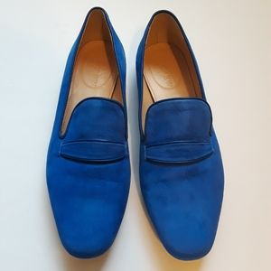 NWOT J. Crew | royal blue suede loafers